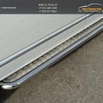Пороги d60,3мм с площадкой алюминиевый лист VW T5 Multivan 2013+