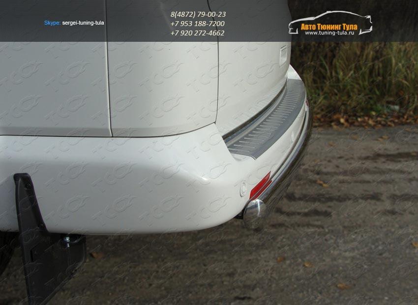 Защита задняя овальная 75×42  VW T5 Multivan 2013+ / арт.727-2