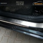 Накладки на пороги /нерж. сталь/ CITROEN C4 2011+/SEDAN 2013+