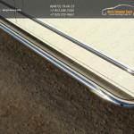 Пороги d60,3мм с площадкой нерж. лист VW T5 Multivan 2013+
