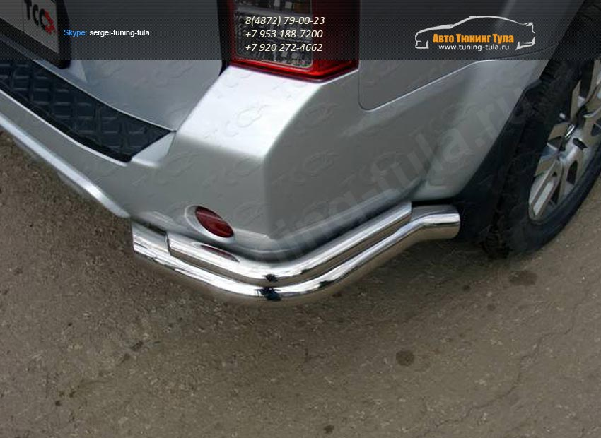 Защита задняя уголки d76.1/42.4 мм Nissan Патфайндер 2010+ /арт.651-2