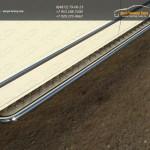 Пороги d42 с площадкой алюминиевый лист VW T5 Multivan 2013+