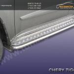 Комплект порогов d42 с листом Chery TIGGO 2013 +