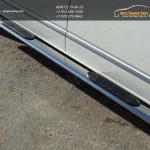 Пороги овальные 120х60мм с накладками VW T5 Multivan 2013+