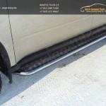 Пороги d42.4 мм с площадкой алюм.лист Nissan X-trail Т31 2011+