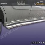 Комплект порогов d57 с загибами Chery TIGGO 2013 +
