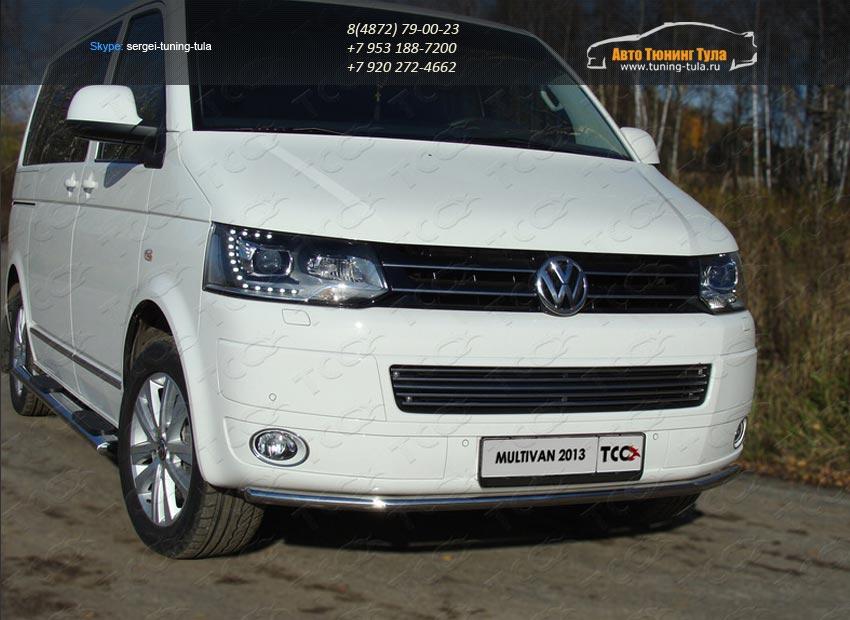 Защита переднего бампера d42.4мм  VW T5 Multivan 2013+ / арт.727-10