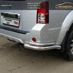 Защита задняя уголки d76.1/42.4 мм Nissan Патфайндер 2010+