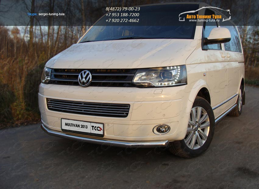 Защита переднего бампера d60.3мм  VW T5 Multivan 2013+ / арт.727-11