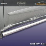 Комплект порогов труба d76 Chery TIGGO 2013 +