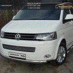 Защита переднего бампера овальная 75х42 мм VW T5 Multivan 2013+