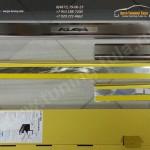 Накладки на пороги (нерж.сталь) от царапин FORD KUGA 2013+