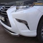 Защита переднего бампера овальная 75х42 мм Lexus GX460 2014+