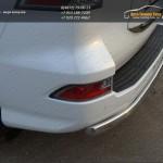 Защита задняя овальная 75x42 мм Lexus GX460 2014+