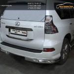 Защита задняя уголки d76.1 Lexus GX460 2014+