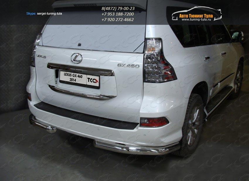 Защита задняя уголки d76.1 Lexus GX460 2014+/арт.732