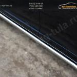 Пороги труба d63 (вариант 1) Toyota VENZA 2013+