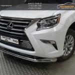 Защита переднего бампера d76.1 мм Lexus GX460 2014+