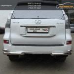 Защита задняя уголки двойные d76.1/42 мм Lexus GX460 2014+