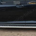 Пороги труба d42 с алюминиевым листом Toyota VENZA 2013+
