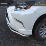 Защита переднего бампера одинарная d60.3 мм Lexus GX460 2014+