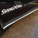 Кант штатных порогов / Пороги труба d60.3 мм Ssang Yong Actyon 2014+