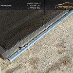 Пороги овальные 75х42 мм с проступью Ssang Yong Actyon 2014+