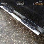 Пороги овальные 120х60 мм с накладками Ssang Yong Actyon 2014+