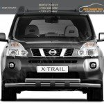 Защита переднего бампера d63 с пластинами Nissan X-trail Т31 2011+