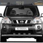 Защита переднего бампера d63 с зубьями Nissan X-trail Т31 2011+