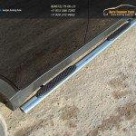 Пороги овальные 75х42 мм с накладками Ssang Yong Actyon 2014+