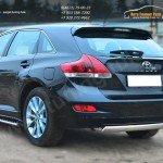 Защита заднего бампера 75х42 (дуга овальная) Toyota VENZA 2013+