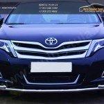 Защита переднего бампера d42 (секции) d42 (уголки) Toyota VENZA 2013+