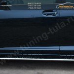 Пороги труба d75х42 овал с проступью Toyota VENZA 2013+