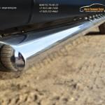Пороги труба 75х42 овал с проступью Subaru Forester 2013+