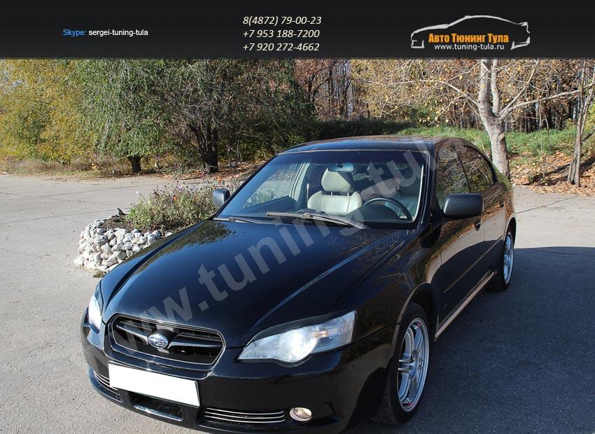 Накладки фар/АБС-пластик/Реснички на Subaru Legacy 2003-2009/арт.300-10
