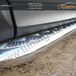 Пороги труба  d42 с листом  Subaru Forester 2013+