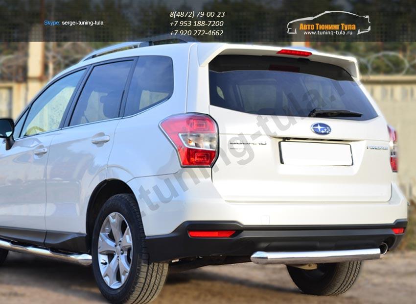 Защита заднего бампера d76 (дуга) Subaru Forester 2013+ / арт.733-1
