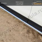 Пороги труба d63 (вариант 1)  Subaru Forester 2013+