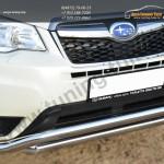 Защита переднего бампера d63/63 (волна) Subaru Forester 2013+