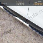 Пороги труба d76 с накладками (вариант 1) Subaru Forester 2013+