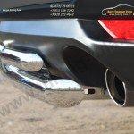 Защита заднего бампера d63 (дуга) d42х2 (дуга) Subaru Forester 2013+