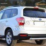 Защита заднего бампера d76 (дуга) Subaru Forester 2013+
