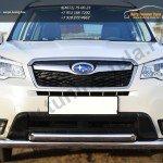 Защита переднего бампера d76 (секции)  d63 (дуга)  Subaru Forester 2013+
