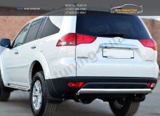 Защита заднего бампера 75х42 (овальная дуга) Mitsubishi Pajero Sport 2013+ / арт.734