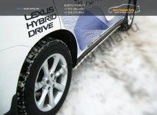 Пороги труба d42 Lexus RX III с 2012 г./ арт.438-1