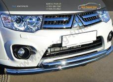 Защита переднего бампера двойная d63(секции) d63(дуга)Mitsubishi Pajero Sport 2013+ / арт.734-12