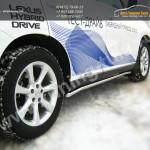 Пороги труба d42 Lexus RX III с 2012 г.