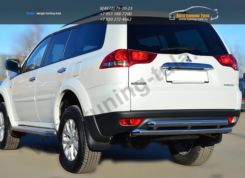 Защита заднего бампера d63 (дуга) d63 (дуга) Mitsubishi Pajero Sport 2013+ / арт.734-4