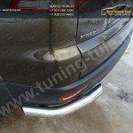 Защита задняя уголки 76,1мм. Mitsubishi Pajero Sport 2013+